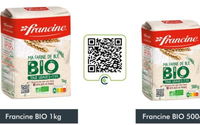 La farine bio Francine issue des productions de nos agriculteurs!