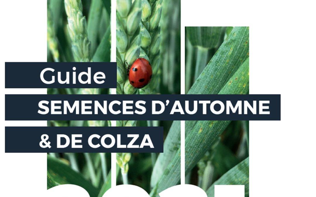 Nouveau guide semences d'automne et de colza 2021-2022